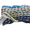 hamac mexicain artisanal 1 place bleu blanc