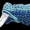 hamac artisanal mexicain en coton mercerisé mélange de bleu