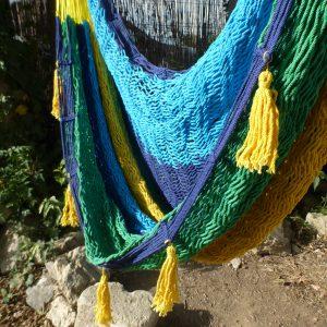 hamac chaise mexicain artisanal filet fauteuil suspendu en coton